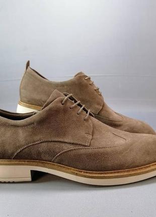 Кожаные туфли, броги от ecco р. 40