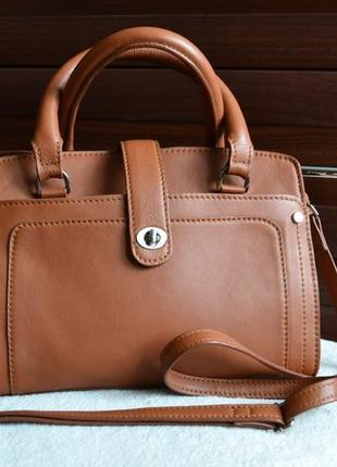 Кожаная красивая сумка.
