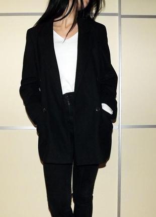 Демисезонное пальто. кашемировое пальто  бойфренд-оверсайз.  классическое пальто .