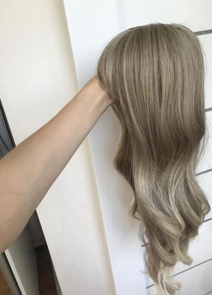 Парик блонд кучеряве волосся