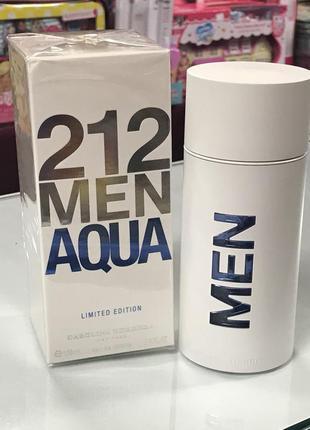 Carolina herrera 212 men aqua limited edition оригинал_eau de toilette 7 мл затест