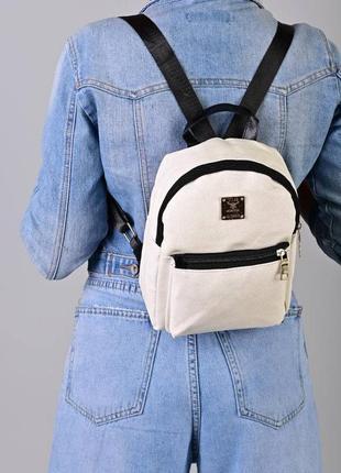 Рюкзак - сумка эко кожа 265381 молоко