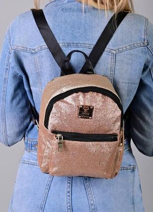 Рюкзак - сумка эко кожа 265381 бронза