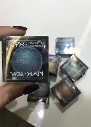 Nyx baked eyeshadow blue dream 04 запеченные тени nyx