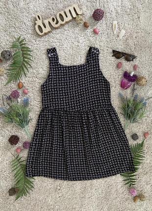 Распродажа!!! милое натуральное летнее платье в цветочный принт №595