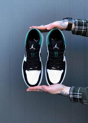 Nike air jordan 1 low green3 фото