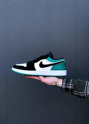 Nike air jordan 1 low green2 фото