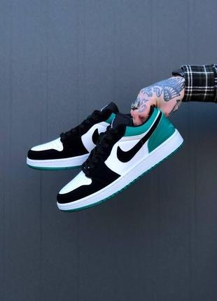 Nike air jordan 1 low green6 фото