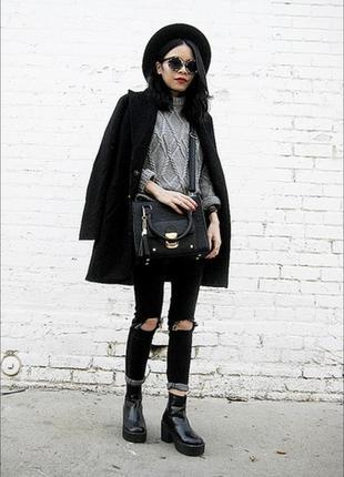 Стильное классическое черное пальто с италии, хлопок