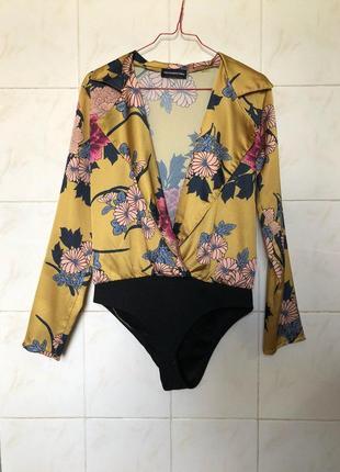 Блуза боди на запах zara zara