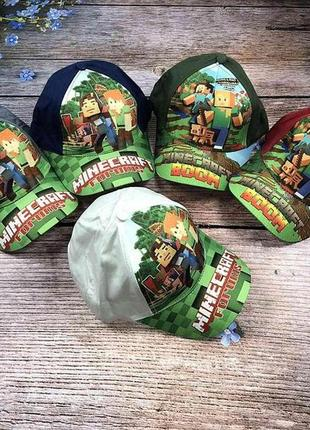 Летняя кепка блейзер minecraft для мальчика. 52р.