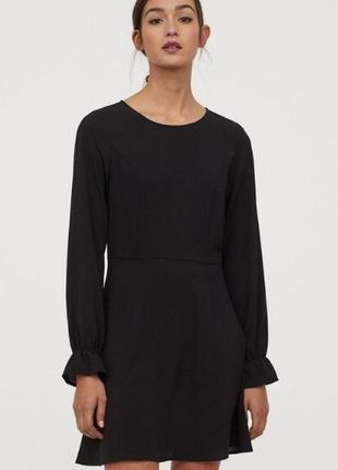 Распродажа! восхитительное черное платье  h&m-швеция