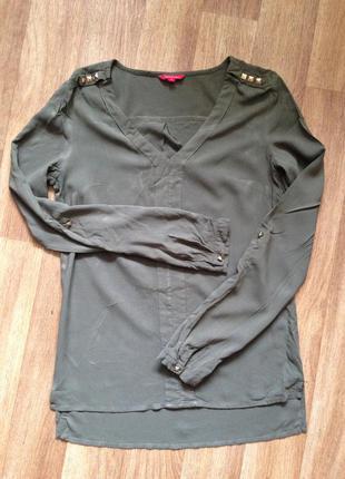 Стильная блуза цвета хаки ostin