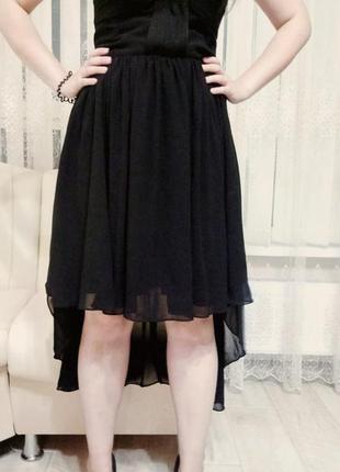 Супер  платье со шлейфом new look  12 размер