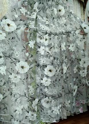 Тюль з квітами