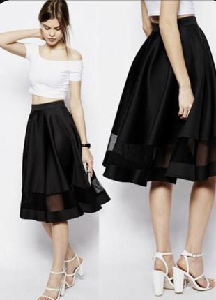 Роскошная юбка , ниже колен, a. tan