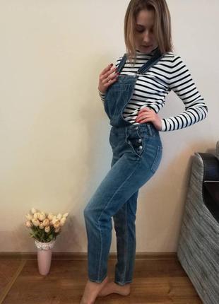 Комбинезон, комбез h&m, джинсовой комбинезон