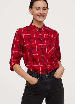 Новая фланелевая рубашка h&m