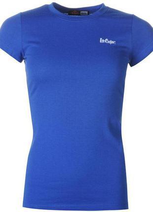 Синяя яркая футболка lee cooper размер м