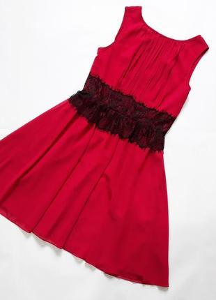 Платье легкое шифоновое с красивой спинкой  little mistress
