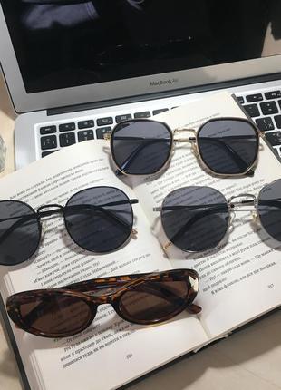 Новые солнцезащитные очки нові сонцезахисні окуляри круглые большие очки бесплатная доставка
