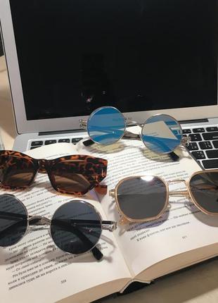 Новые солнцезащитные очки нові сонцезахисні окуляри круглые леопардовые светлые тёмные