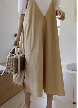 Невероятное платье макси свободного фасона/ большой размер)