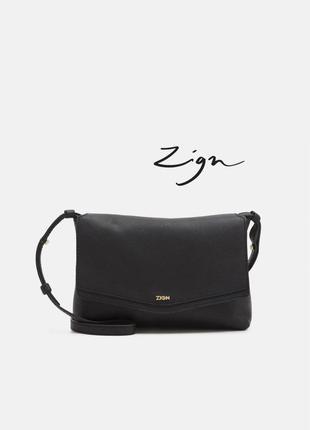 Брендова сумочка zign ⚡ з натуральної шкіри