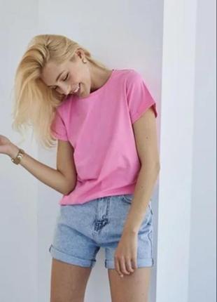 Базовая женская футболка однотонная