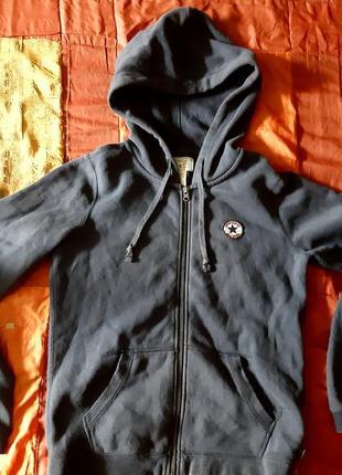 Толстовка худи converse chuck taylor full-zip hoodie