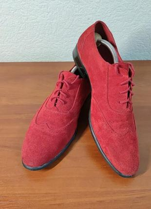 Туфлі броги замшеві