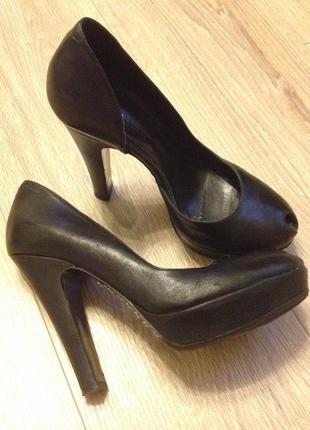 Туфли кожаные sonia rykiel на высоком каблуке
