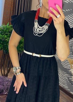 Женское чёрное платье прошва