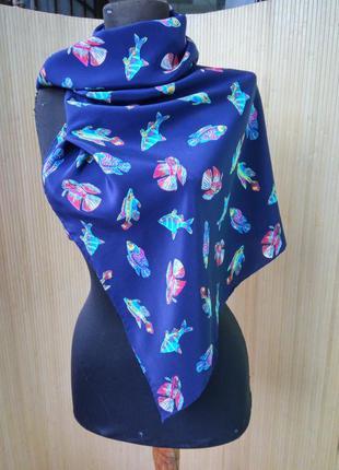 Шелковый шарф с рыбками2