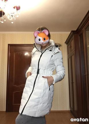 Пуховик пальто зимнее stradivarius