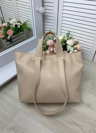 Большая женская сумка эко кожа