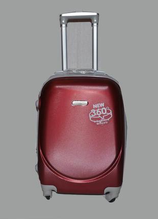 Большой чемодан perfect line из поликарбоната цвета марсала