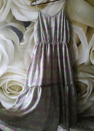 Воздушный сарафан платье свободного кроя на брителях