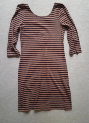Платье с полу открытой спинкой в полоску h&m