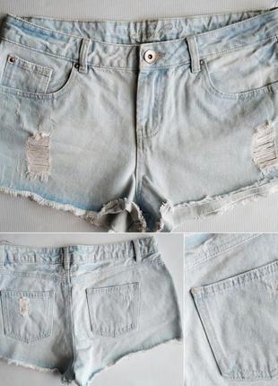 Джинсовые шорты george с высокой посадкой