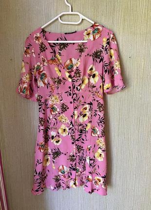 Платье цветочное сарафан летнее платье рюш