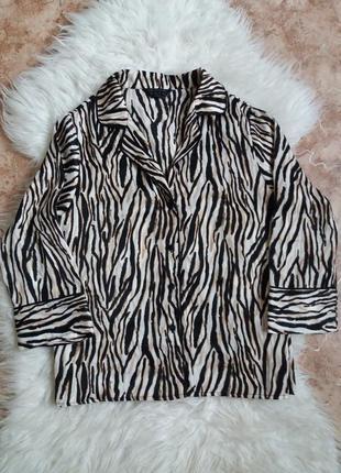 Пижамная кофта принт зебра