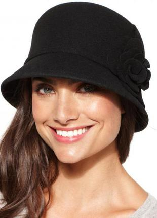 Новая натуральная фетровая шляпа клош для настоящей леди