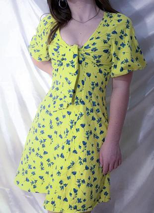Платье летнее в цветочек