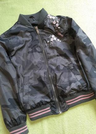 Бомбер, ветровка, курточка, пиджак 116/122 cm george zara hm next милитари