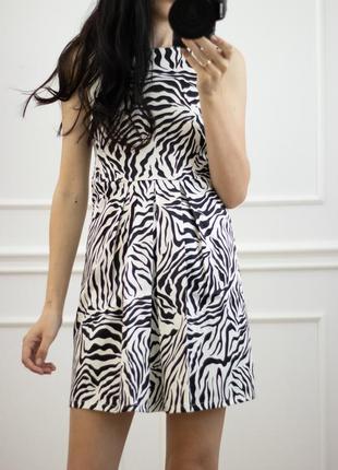 Платье зебра животный принт