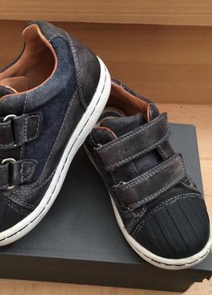 Кожаные ботинки(кроссовки) geox 25 р