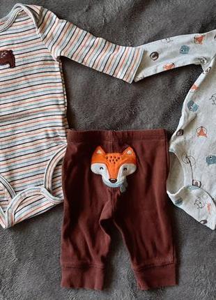 Комплект carter's бодики штаны