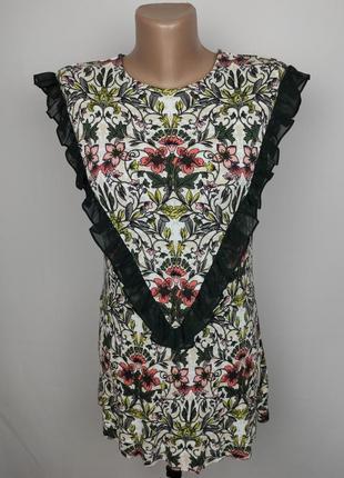 Блуза красивая без рукав с рюшами next uk 12/40/m