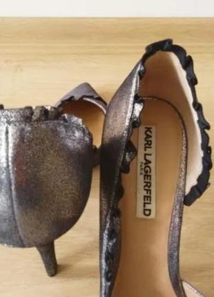 Серебряные туфли karl lagerfeld5 фото